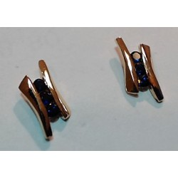 Boucles d'oreilles OR 750 saphirs
